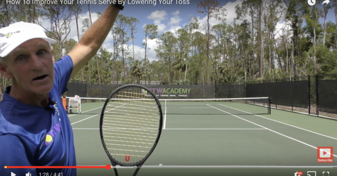 How To Improve Your Tennis Serve By Lowering Your Toss